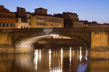 Detail of Trinity Bridge in Florence - Italy