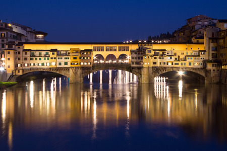 Detail of Old Bridge in florence italy Archivio Fotografico