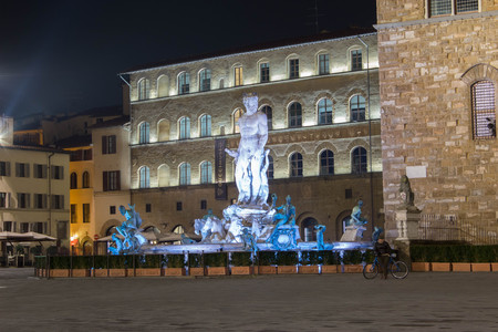 The Neptune's fountain in florence italy