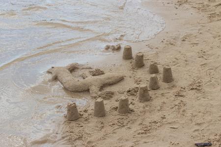 Sand Lizard 2 Archivio Fotografico