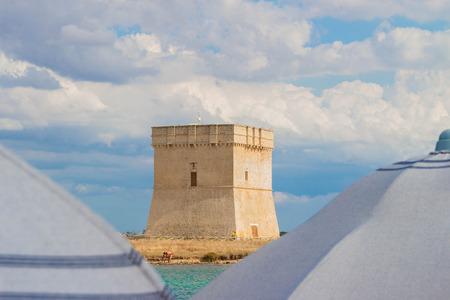 Chianca Tower from bathouse Archivio Fotografico
