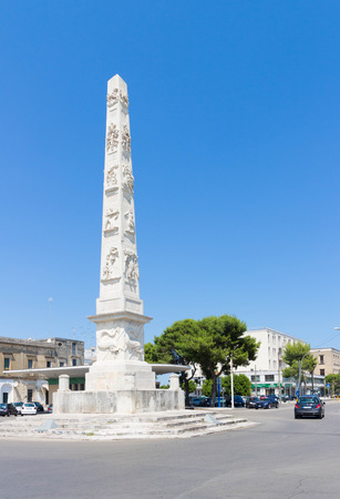 The white obelisk in Lecce