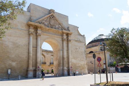 Naples Gate in Lecce 2 Archivio Fotografico