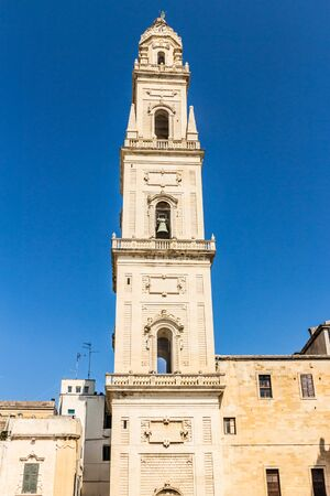 cathedral's belfry of Lecce Archivio Fotografico