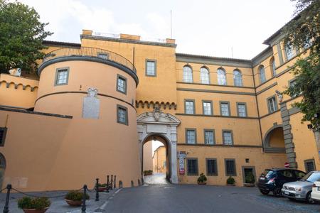 pontiff: behind the papal building