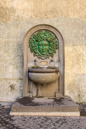 medusa: Fountain of Medusa in Nemi 1