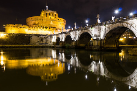 castel: Castel St. Angelo left Editorial
