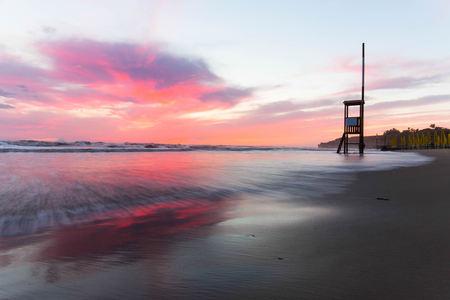 Anzio Beach sunset Archivio Fotografico