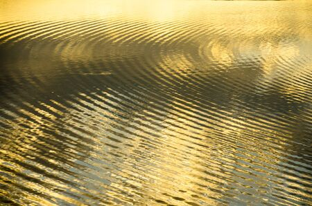 circular water ripple: ripples on water surface Stock Photo