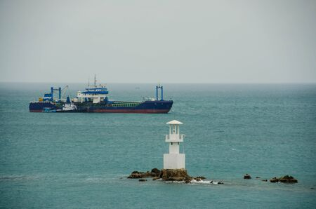 fishingboat: fishery boat and the lighthouse