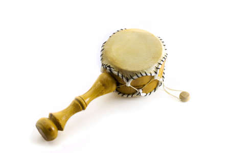 gamelan: Middle drum on the white background.