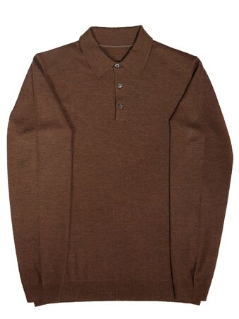 casual mens sweater on a white background