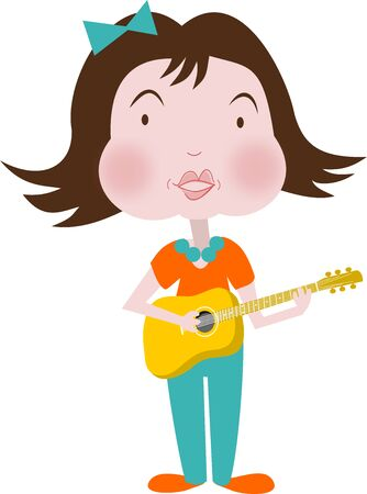music theory: Child musician at the guitar