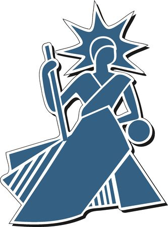 Icon of a bailiff in a simple and pure style