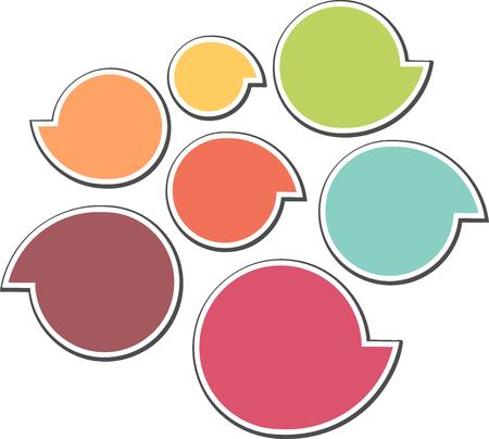 dialog: Colored dialog bubble icon