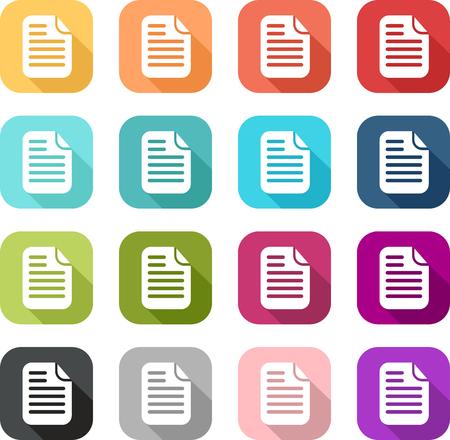 Colored file icon in flat design style