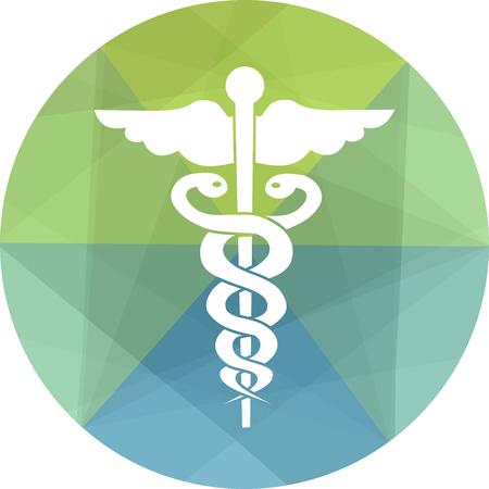 simbolo medicina: Médico y la medicina icono Vectores