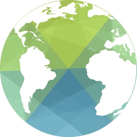 globe terrestre dessin: Une icône de globe terrestre