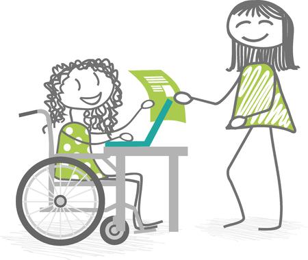 paraplegic: Una persona que usa una silla de ruedas con otra persona de pie cr�ticas