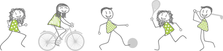 driving range: Various sports activities Illustration