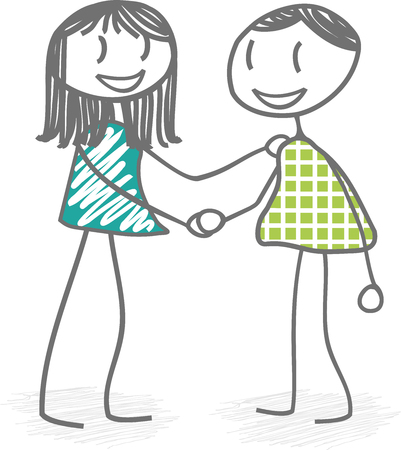 reconciliation: Two person is serent hand in reconciliation or to sign an agreement
