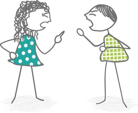 Dos personas sostienen fuertemente Ilustración de vector