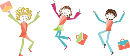 jump for joy: Children, parents, teachers or jumps for joy on the occasion of the school year or for the holidays