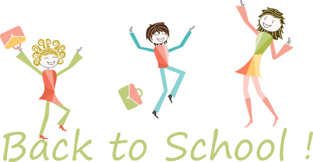 jump for joy: Students, parents, teachers or jump for joy for back to school