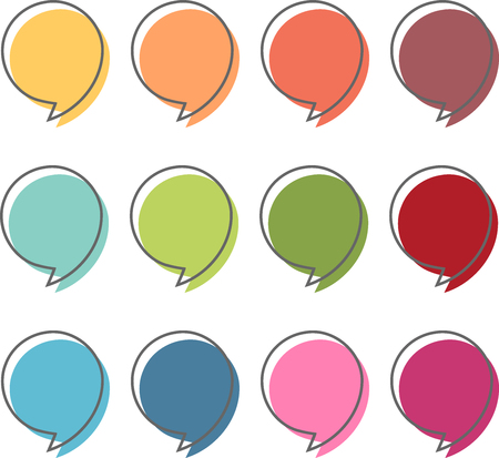 Colorful dialogue bubbles in a modern style