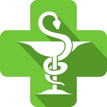 Pharmacy icon in a pharmacy cross