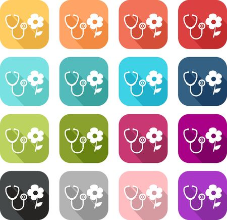 Natural medicine icon, soft and alternative