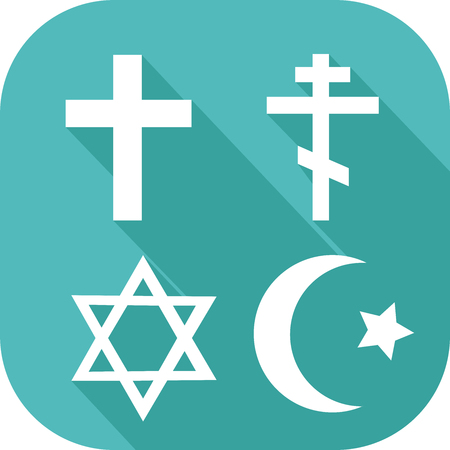 Icon of symbols of different religions