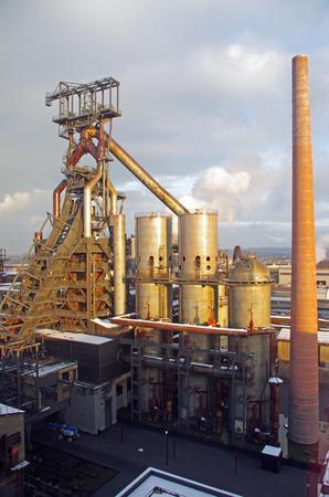 industriële installatie voor de productie van metaalsmelting