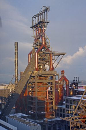 industrial plant for the production of metal smelting
