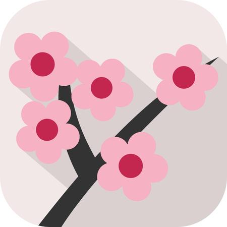 Icona di fiori colorati Archivio Fotografico - 91349480
