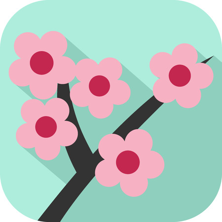 Colorful flower icon Vectores