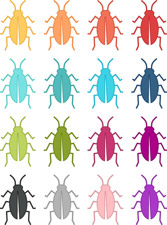 Colorful insect icon