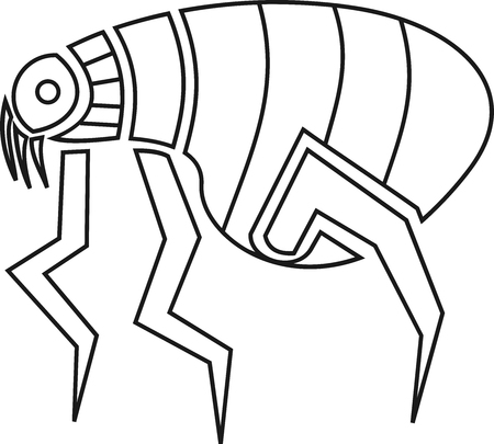 Abstract and geometric flea icon