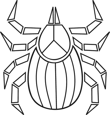 Abstract and geometric tick icon