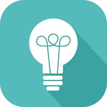 Colorful icon of a light bulb to symbolize an idea Stock Vector - 94781361