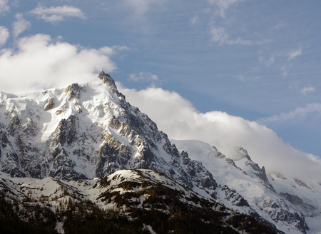 Needle of the Midi in the Alps in France Stock Photo