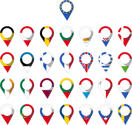 pin of the countries of the european union