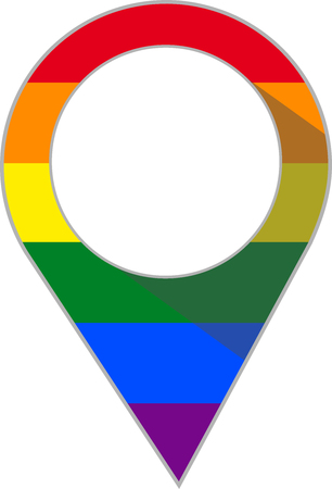 Pin with  rainbow flag