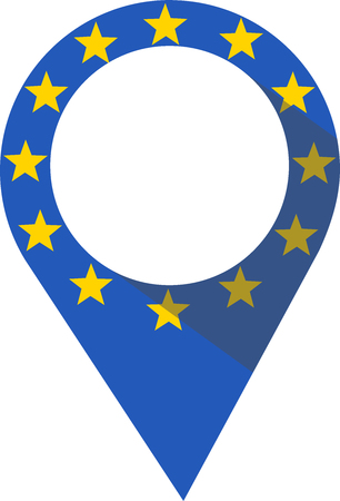 Pin in the shape of a European Union flag