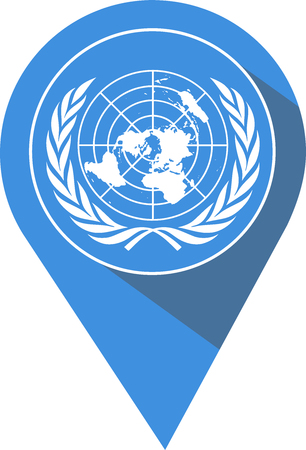 flag with the United Nations pictogram