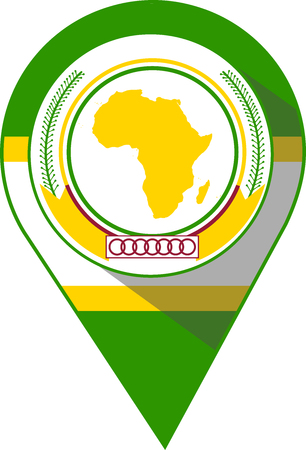 pin in the color of African Union flag