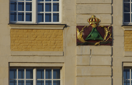 Detail of a coat of arms in Arras