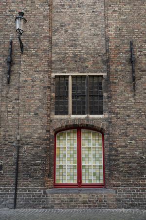 Detail of a typical old house in Bruges, Belgium Banco de Imagens