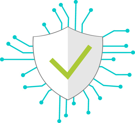 Icon of a protective shield for the Internet