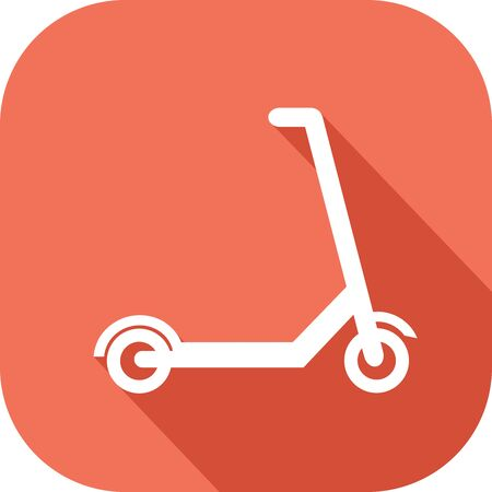 Colored icon of a scooter Banque d'images - 136615014